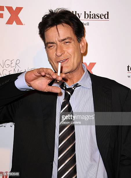Actor Charlie Sheen attends the FX summer comedies party at Lure on June 26 2012 in Hollywood California