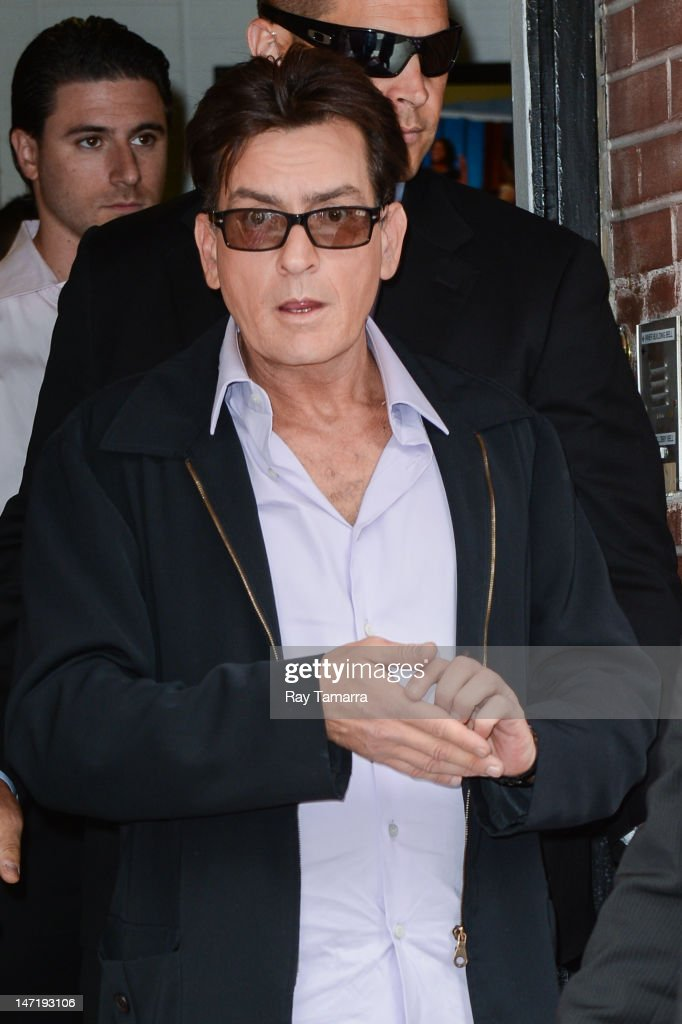 Actor Charlie Sheen leaves the 'Wendy Williams Show' taping at the AMV Studios on June 26 2012 in New York City