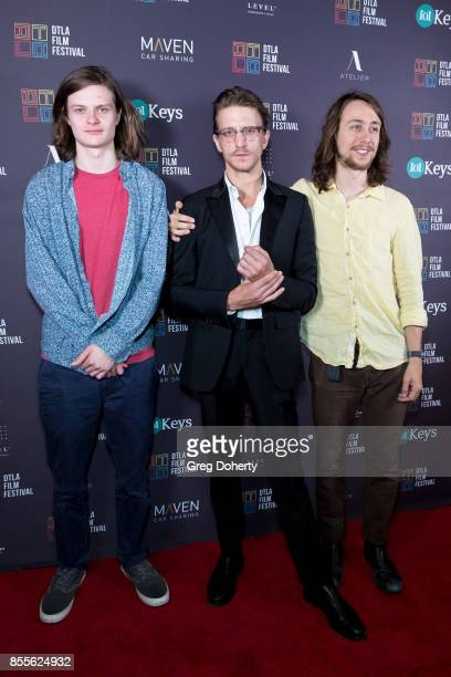 Actor Charlie Tahan Director Kevin Philliips and Actor Owen Campbell arrive for the DTLA Film Festival Premiere Of The Orchard's 'Super Dark Times'...