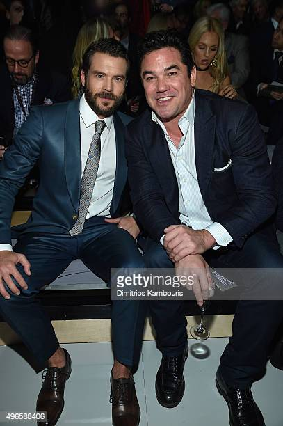 Actor Charlie Weber and Dean Cain attend the 2015 Victoria's Secret Fashion Show at Lexington Avenue Armory on November 10 2015 in New York City