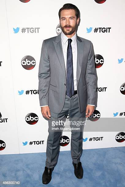 Actor Charlie Weber attends the TGIT Premiere event at Palihouse on September 20 2014 in West Hollywood California
