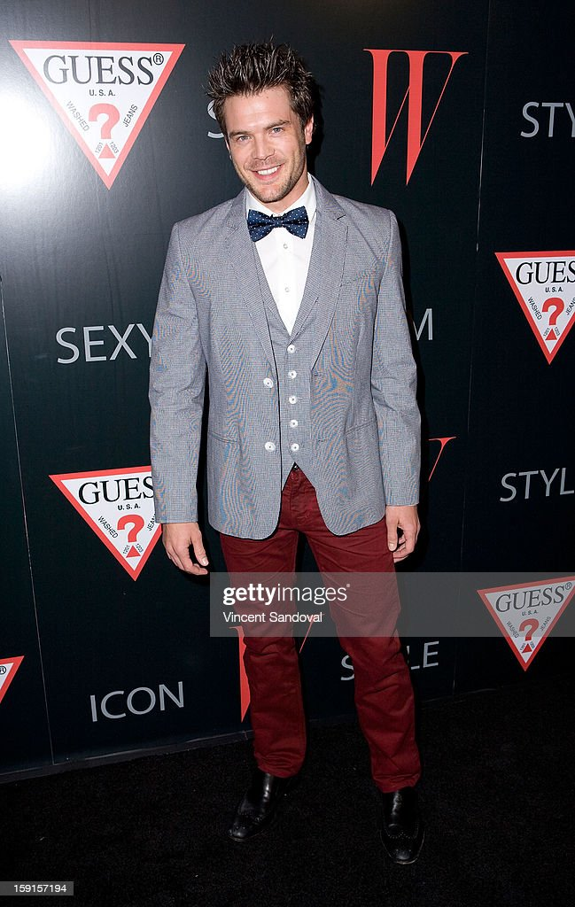 Actor Charlie Weber attends W Magazine and Guess celebrating 30 years of fashion and film and the next generation of style icons at Laurel Hardware on January 8, 2013 in West Hollywood, California.