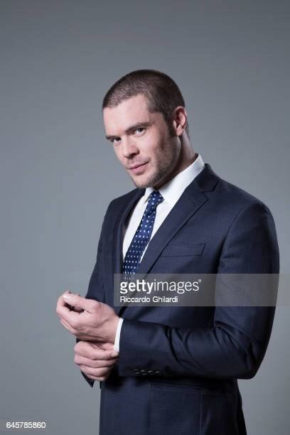 Actor Charlie Weber is photographed for Self Assignment on December 10 2016 in Rome Italy