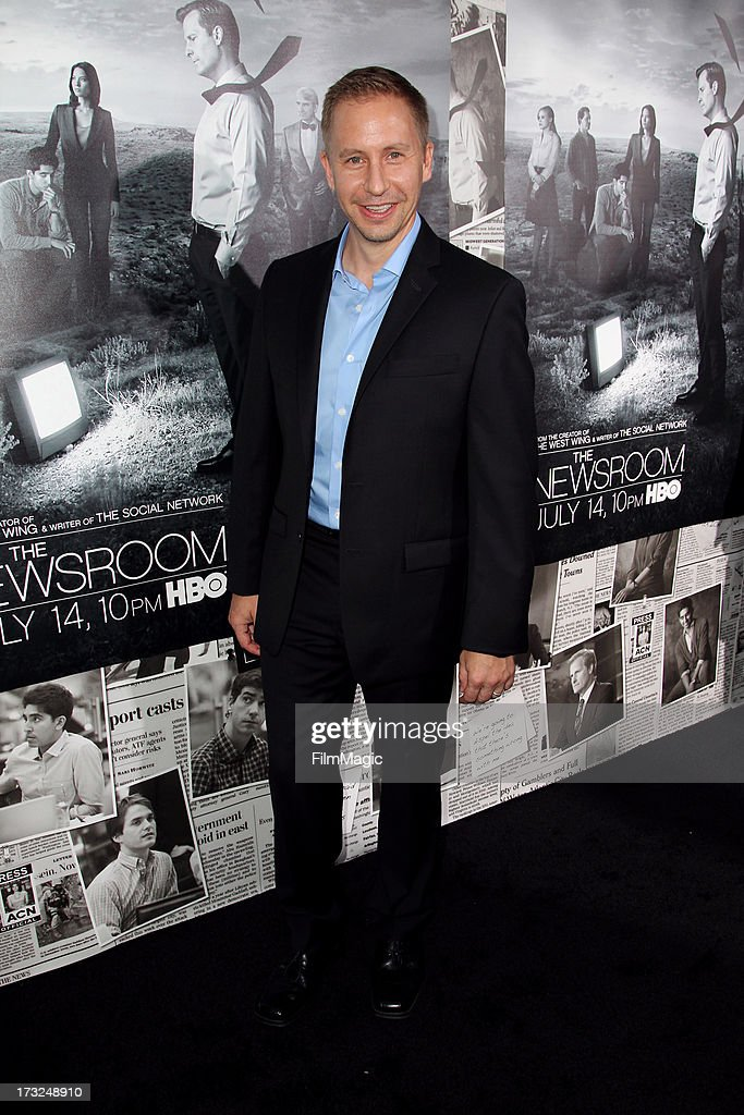 Actor Charlie Weirauch attends HBO's 'The Newsroom' season 2 premiere at Paramount Studios on July 10, 2013 in Hollywood, California.