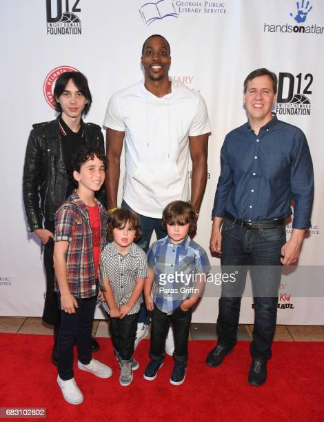 Actor Charlie Wright actor Jason Drucker actor Dylan Walters actor Wyatt Walters NBA Player Dwight Howard and author Jeff Kinney attend 'Diary Of A...