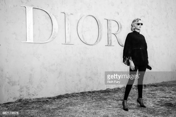 Actor Charlize Theron attends the Christian Dior Cruise 2018 Runway Show at the Upper Las Virgenes Canyon Open Space Preserve on May 11 2017 in Santa...