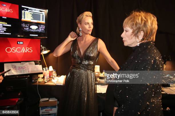 Actor Charlize Theron backstage during the 89th Annual Academy Awards at Hollywood Highland Center on February 26 2017 in Hollywood California