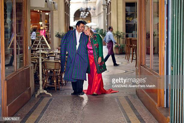 Actor Charlotte de Turckheim with her fiance Zaman Hachemi are photographed for Paris Match as they perpare for their forthcoming wedding August 17...