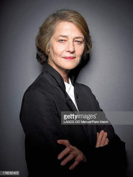 Actor Charlotte Rampling is photographed for Paris Match on June 19 2013 in Paris France