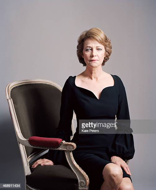 Actor Charlotte Rampling is photographed for the Telegraph on November 13 2013 in London England