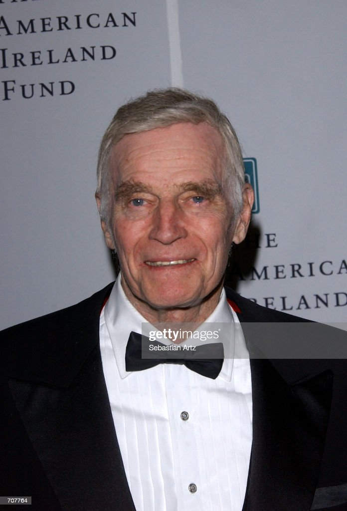 Actor Charlton Heston attends the American Ireland Fund Gala April 17, 2002 in Los Angeles, CA.