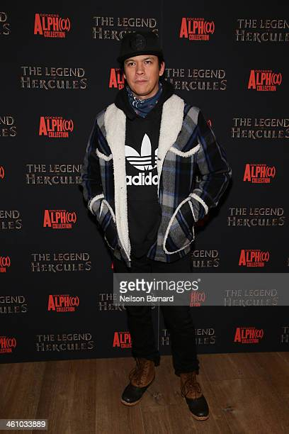 Actor Chaske Spencer attends the 'The Legend Of Hercules' premiere at the Crosby Street Hotel on January 6 2014 in New York City