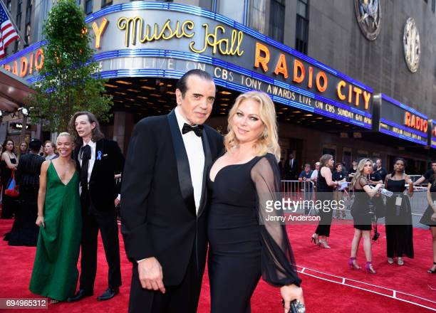 Actor Chazz Palminteri and Gianna Ranaudo attends the 2017 Tony Awards at Radio City Music Hall on June 11 2017 in New York City