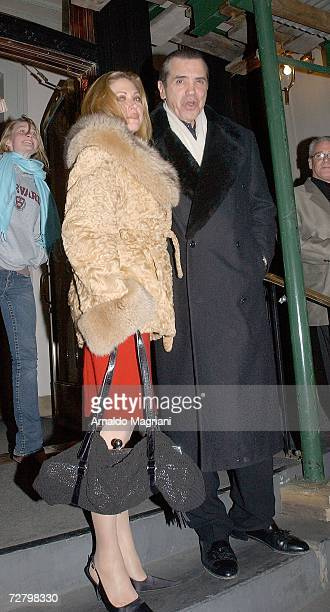 Actor Chazz Palminteri and his wife Gianna Ranaudo leave Robert De Niro's house after dinner on December 10 2006 in New York City