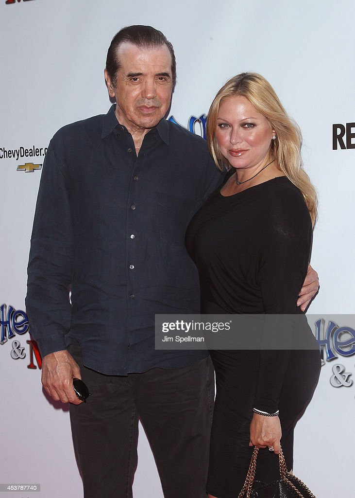 Actor Chazz Palminteri and wife Gianna Ranaudo attends the 'Henry Me' New York Premiere at Ziegfeld Theatre on August 18 2014 in New York City