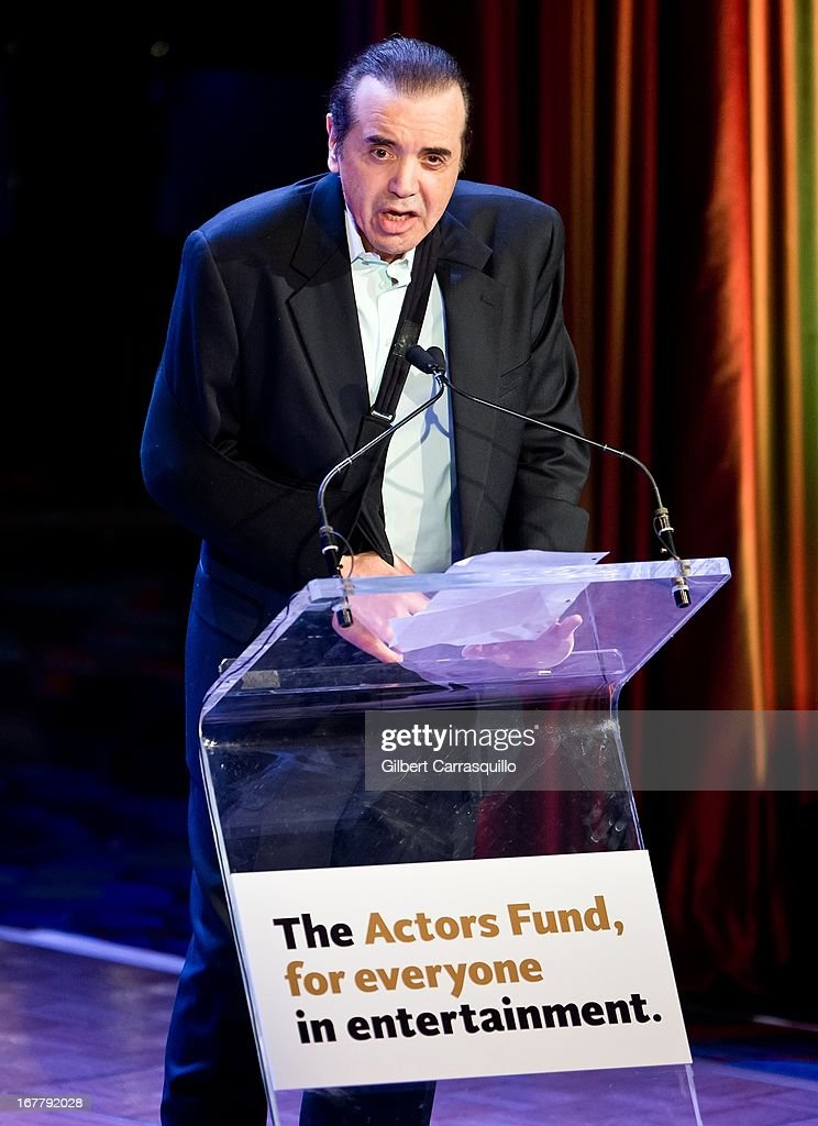 Actor <a gi-track='captionPersonalityLinkClicked' href=/galleries/search?phrase=Chazz+Palminteri&family=editorial&specificpeople=211446 ng-click='$event.stopPropagation()'>Chazz Palminteri</a> attends the 2013 Actors Fund's Annual Gala Honoring Robert De Niro at The New York Marriott Marquis on April 29, 2013 in New York City.