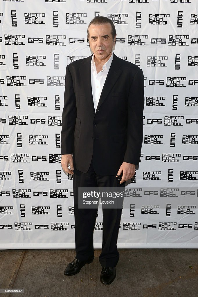 Actor Chazz Palminteri attends the Ghetto Film School Annual Benefit Gala Celebrating Cinematic Education at The Standard Hotel on June 13 2012 in...