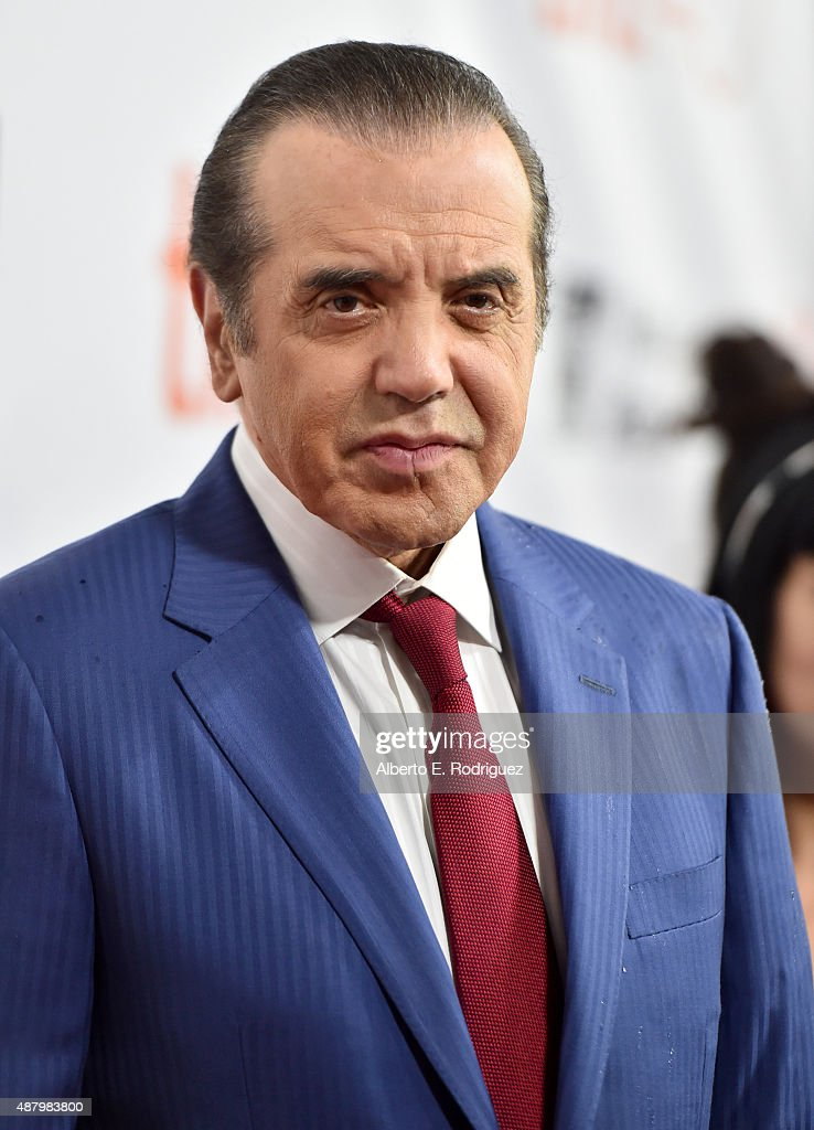 Actor Chazz Palminteri attends the 'Legend' premiere during the 2015 Toronto International Film Festival at Roy Thomson Hall on September 12, 2015 in Toronto, Canada.