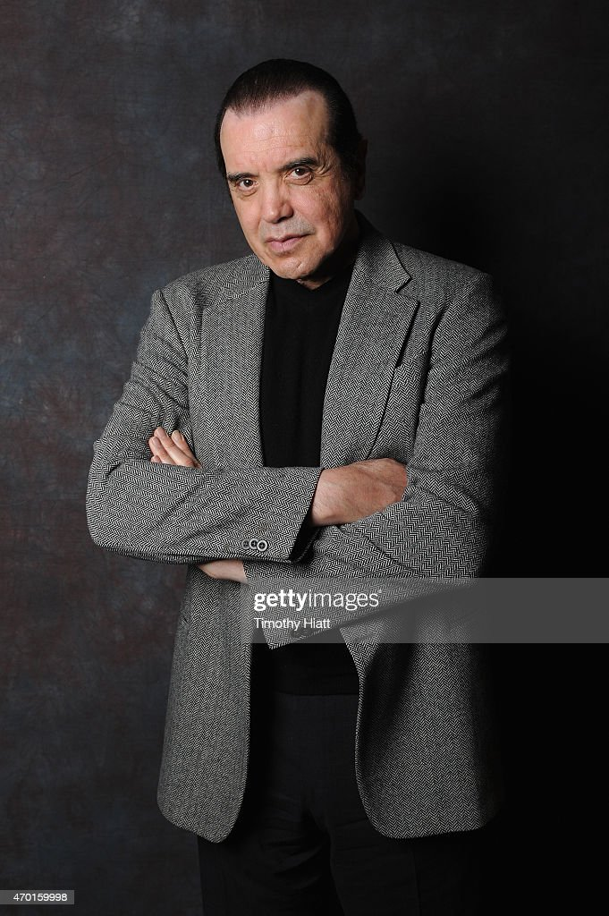 Actor Chazz Palminteri poses backstage at the 'A BRONX TALE' Screening at Virginia Theatre during EBERTFEST 2015 on April 17 2015 in Champaign...