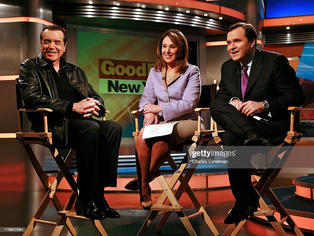 Actor Chazz Palminteri visits cohosts Rosanna Scotto and Greg Kelly at FOX's 'Good Day New York' at FOX studios on November 7 2008 in New York City