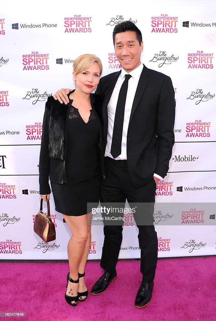 Actor Chester Tam (R) attends the 2013 Film Independent Spirit Awards After Party hosted by Microsoft Windows Phone at The Bungalow at The Fairmont Hotel on February 23, 2013 in Santa Monica, California.