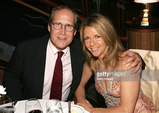 Actor Chevy Chase and his wife Jayni attend the Britannia Ball on the Queen Mary 2 docked at the Brooklyn Cruise Terminal in Redhook on May 24 2007...