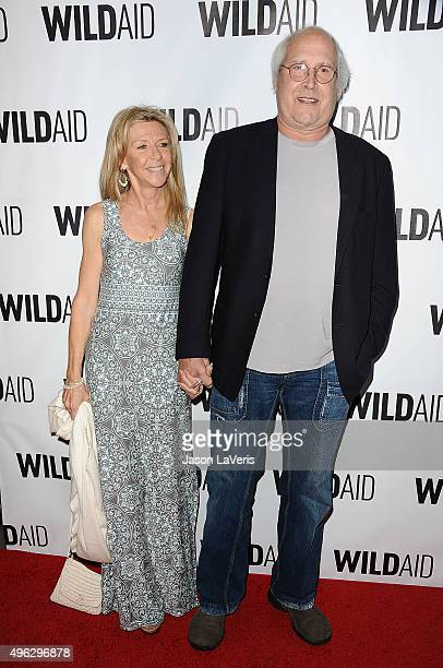 Actor Chevy Chase and wife Jayni Chase attend WildAid 2015 at Montage Hotel on November 7 2015 in Beverly Hills California