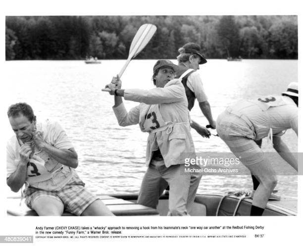 Actor Chevy Chase in a scene from the Warner Bros movie 'Funny Farm ' circa 1988