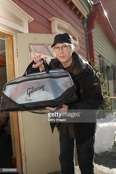 Actor Chevy Chase the Gibson Gift Lounge during the 2005 Sundance Film Festival on January 21 2005 in Park City Utah