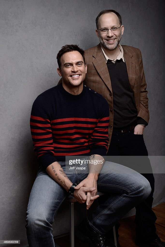 Actor Cheyenne Jackson and director Ira Sachs pose for a portrait during the 2014 Sundance Film Festival at the WireImage Portrait Studio at the...