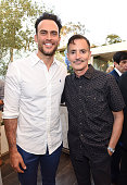 Actor Cheyenne Jackson and Lymphatic Education and Research Network Executive Director William Repicci attend Academy AwardWinner Kathy Bates Hosts...