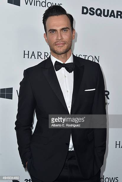 Actor Cheyenne Jackson attends amfAR's Inspiration Gala Los Angeles at Milk Studios on October 29 2015 in Hollywood California