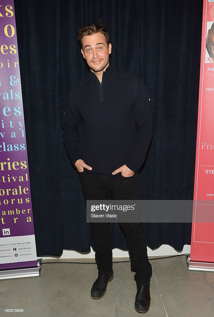 Actor Cheyenne Jackson attends press launch of Broadway Classics at Carnegie Hall at Manhattan Concert Productions Studio on November 27, 2013 in New York City.