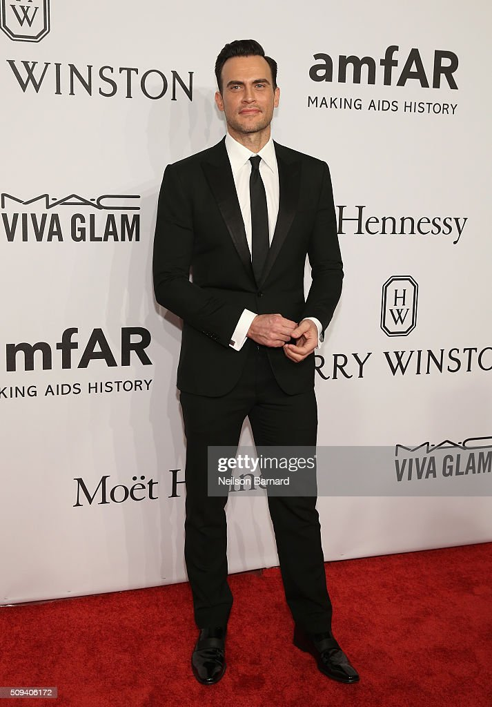 Actor <a gi-track='captionPersonalityLinkClicked' href=/galleries/search?phrase=Cheyenne+Jackson&family=editorial&specificpeople=216481 ng-click='$event.stopPropagation()'>Cheyenne Jackson</a> attends the 2016 amfAR New York Gala at Cipriani Wall Street on February 10, 2016 in New York City.