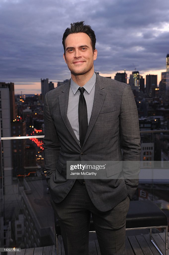 Actor Cheyenne Jackson attends the 3rd annual amfAR New York Inspiration Gala kickoff party at The Standard East Village on March 29 2012 in New York...
