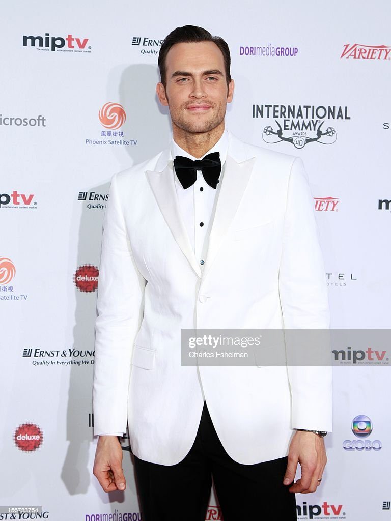 Actor <a gi-track='captionPersonalityLinkClicked' href=/galleries/search?phrase=Cheyenne+Jackson&family=editorial&specificpeople=216481 ng-click='$event.stopPropagation()'>Cheyenne Jackson</a> attends the 40th International Emmy Awards at Mercury Ballroom at the New York Hilton on November 19, 2012 in New York City.