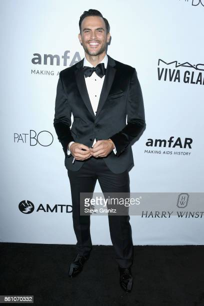 Actor Cheyenne Jackson attends the amfAR Gala 2017 at Ron Burkle's Green Acres Estate on October 13 2017 in Beverly Hills California