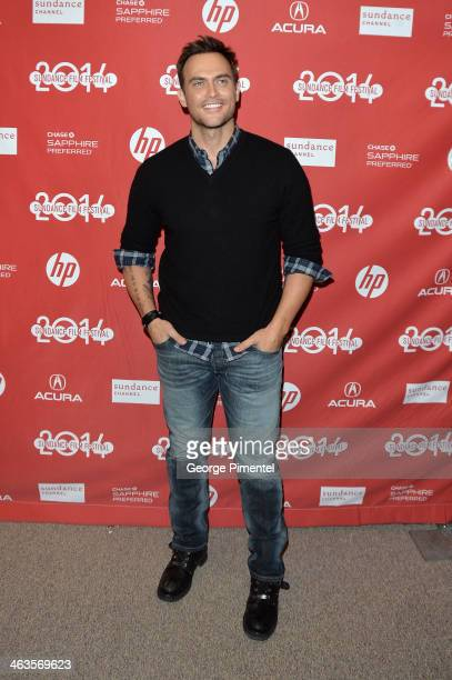 Actor Cheyenne Jackson attends the premiere of 'Love Is Strange' at the Eccles Center Theatre during the 2014 Sundance Film Festival on January 18...