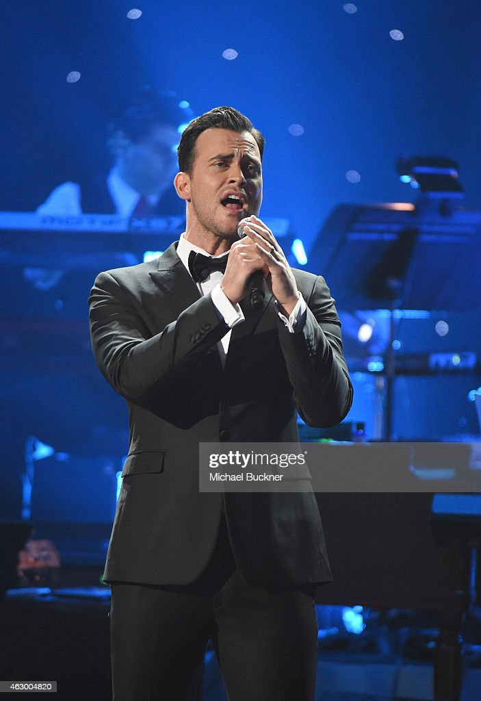 Actor Cheyenne Jackson performs onstage at the Premiere Ceremony during The 57th Annual GRAMMY Awards at the Nokia Theatre LA LIVE on February 8 2015...