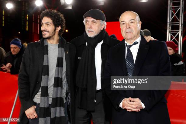 Actor Chino Darin director Fernando Trueba and actor Antonio Resines attend the 'The Queen of Spain' premiere during the 67th Berlinale International...
