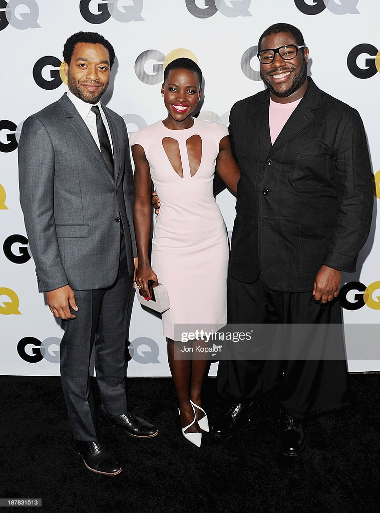 Actor Chiwetel Ejiofor, actress Lupita Nyong'o and Director Steve Mcqueen attend at GQ Celebrates The 2013 'Men Of The Year' at The Wilshire Ebell Theatre on November 12, 2013 in Los Angeles, California.