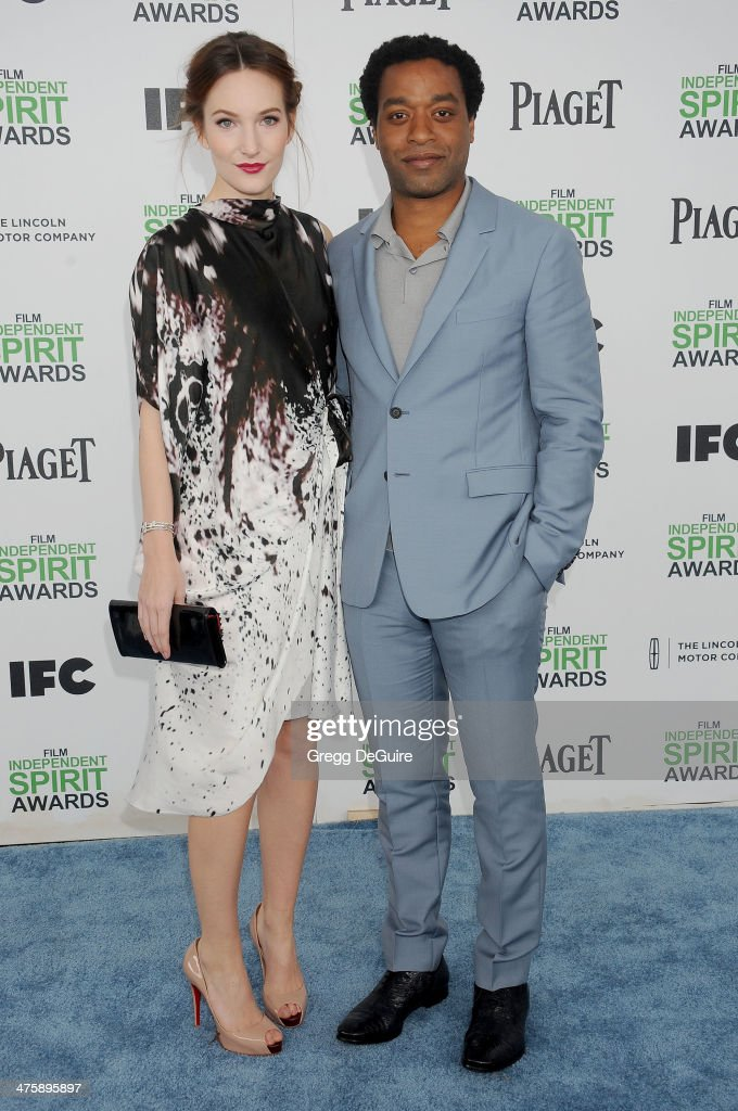 Actor Chiwetel Ejiofor and Sari Mercer arrive at the 2014 Film Independent Spirit Awards on March 1, 2014 in Santa Monica, California.