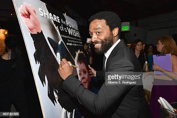 Actor Chiwetel Ejiofor attends 19th Annual Critics' Choice Movie Awards at Barker Hangar on January 16 2014 in Santa Monica California