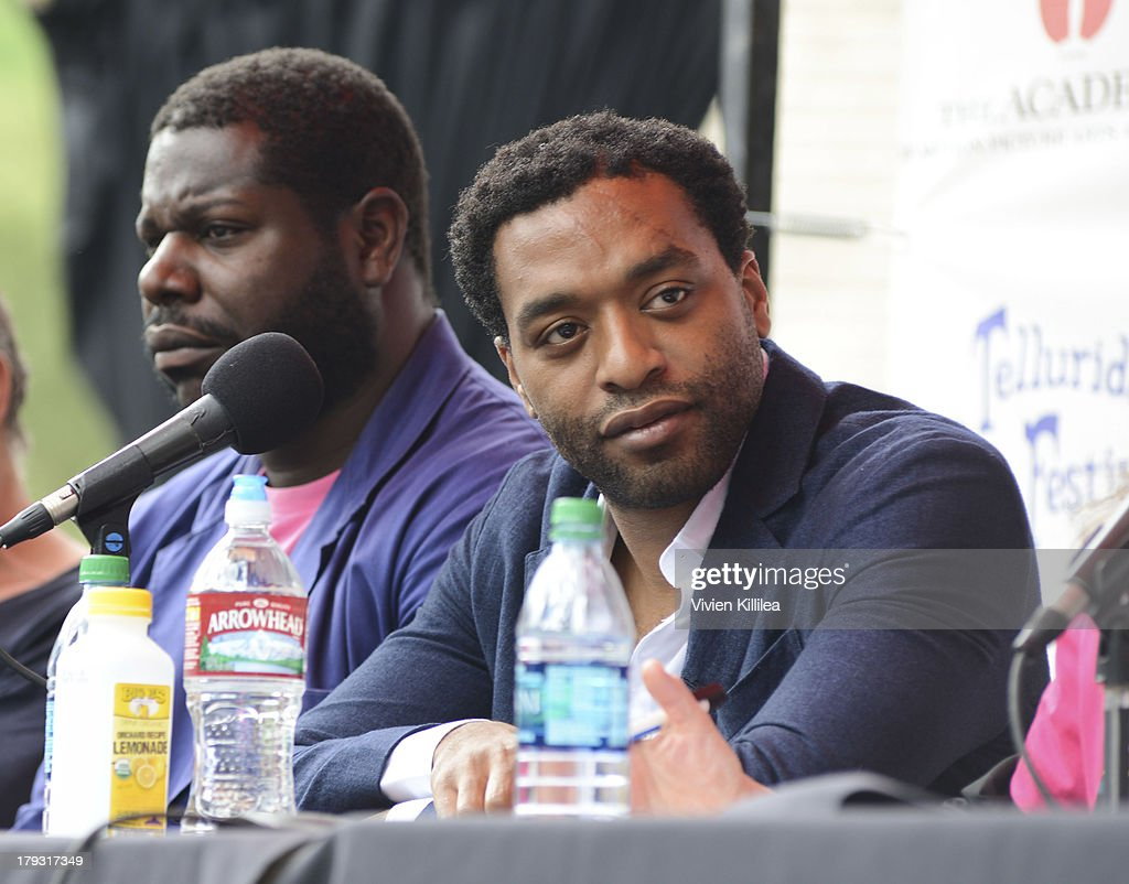 Actor <a gi-track='captionPersonalityLinkClicked' href=/galleries/search?phrase=Chiwetel+Ejiofor&family=editorial&specificpeople=213998 ng-click='$event.stopPropagation()'>Chiwetel Ejiofor</a> speaks on a panel in Elks Park at the 2013 Telluride Film Festival - Day 4 on September 1, 2013 in Telluride, Colorado.