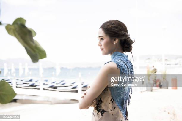 Actor Chompoo aka Araya A Hargate is photographed in Cannes France on May 19 2017