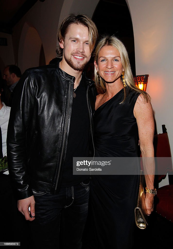 Actor Chord Overstreet (L) and Crystal Lourd attend Vogue and MAC Cosmetics dinner hosted by Lisa Love and John Demsey in honor of Prabal Gurung at the Chateau Marmont on Monday, May 13, 2013 in Los Angeles, California.