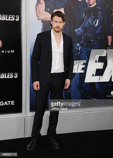Actor Chord Overstreet arrives at the 'Sin City A Dame To Kill For' Los Angeles Premiere at TCL Chinese Theatre on August 19 2014 in Hollywood...