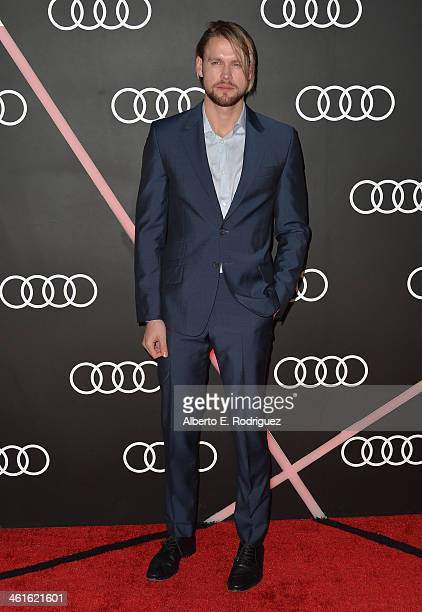 Actor Chord Overstreet arrives to Audi Celebrates Golden Globes Weekend at Cecconi's Restaurant on January 9 2014 in Los Angeles California