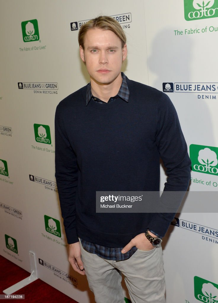 Actor <a gi-track='captionPersonalityLinkClicked' href=/galleries/search?phrase=Chord+Overstreet&family=editorial&specificpeople=7126148 ng-click='$event.stopPropagation()'>Chord Overstreet</a> attends Cotton Incorporated's Blue Jeans Go Green celebrates 1 million pieces of denim collected for recycling at SkyBar at the Mondrian Los Angeles on November 6, 2013 in West Hollywood, California.