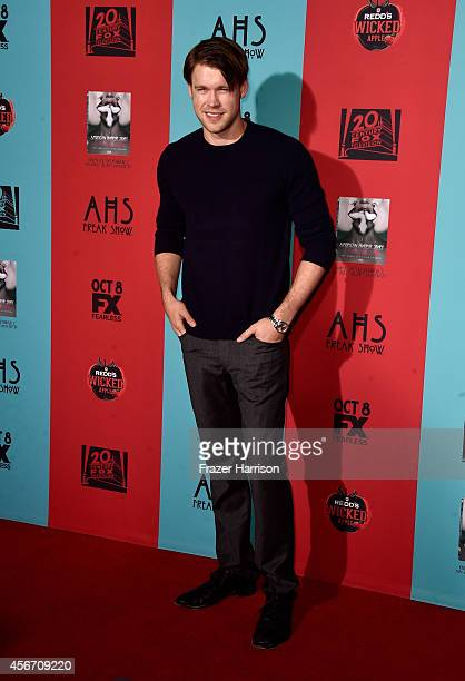 Actor Chord Overstreet attends FX's 'American Horror Story Freak Show' premiere screening at TCL Chinese Theatre on October 5 2014 in Hollywood...